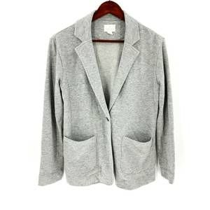 Caslon Grey One Button Knit Business Casual Blazer